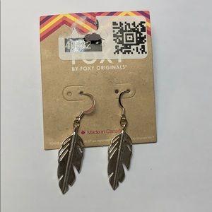 Jewelry - 🎈Silver Feather Drop Earrings